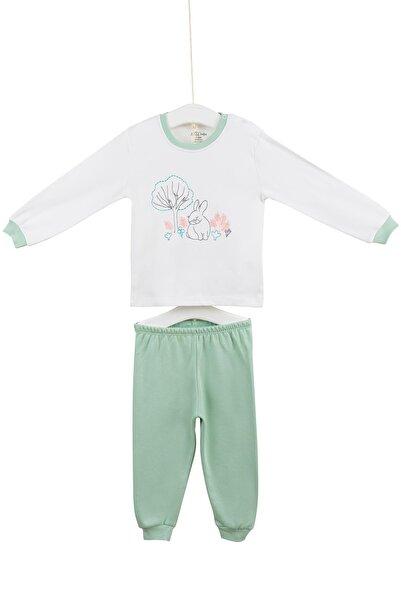Aziz Bebe Kız Çocuk Pijama Takımı 3-6 Yaş AZZ009436