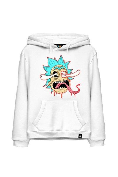 Gala Unisex Beyaz Bebek Rick And Morty Sweatshirt 52
