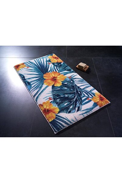 Confetti Hibiscus02 Turuncu 80x140 cm Banyo Halısı
