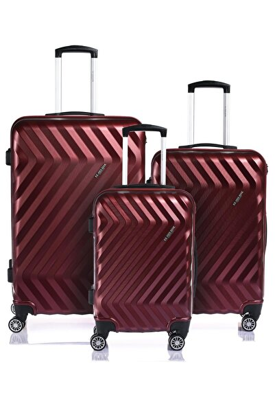 U.S POLO Plvlz7512-set Bordo Unısex Set Valiz