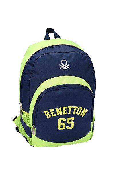 Benetton Sırt Çantası 87274 Lacivert & Yeşil
