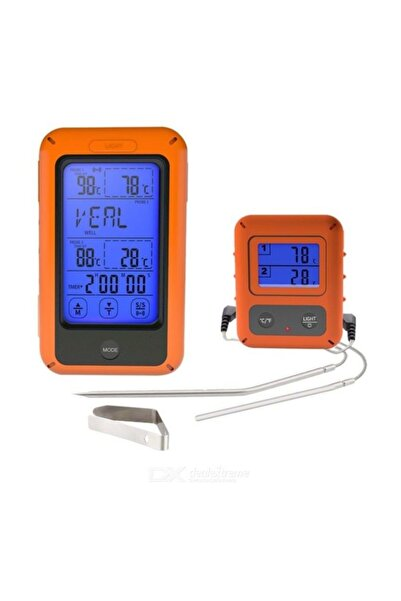 Weather Forecast Çift Problu Kablosuz Alarmlı Fırın Ve Barbekü Termometre Thr311