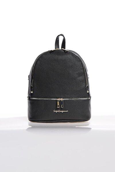 Sergio Giorgianni Luxury Sg1584 B.siyah Kadın Sırt Çantası