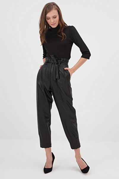 Chima Kadın Siyah Deri Pantolon K21PA069