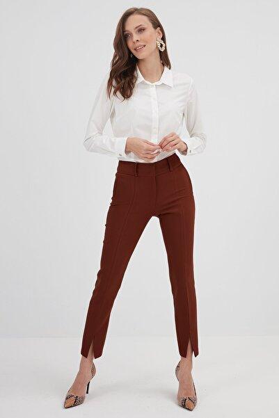 Chima Kadın Kiremit Paçası Yırtmaçlı Pantolon K21PA101