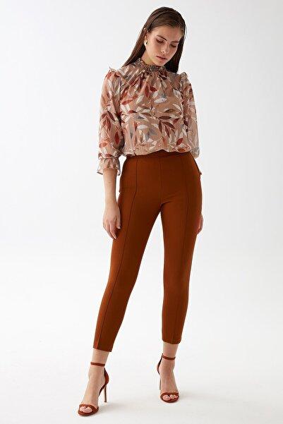 Chima Kadın Taba Slim Fit Pantolon K21PA036