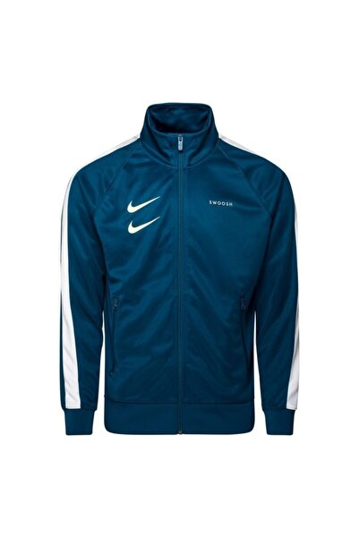 Nike Erkek Turkuaz Sweatshirt Swoosh Cj4884-499