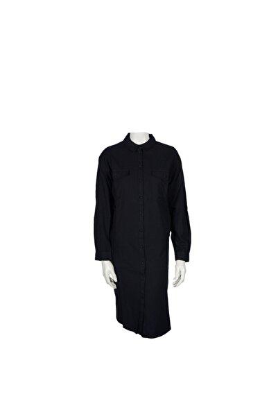 Vero Moda Siyah Uzun Gömlek %100 Koton 10223407