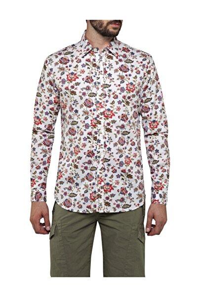 Replay Camicia Prınted Cotton Dobby