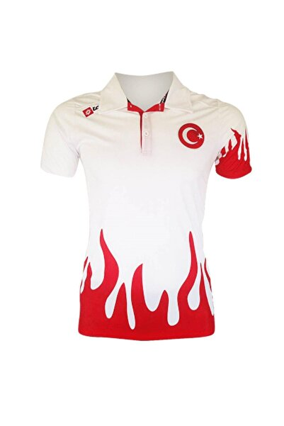 Lotto Milli Takım Alev Desenli Tişört R0305 Kırmızı Kırmızı-4xl