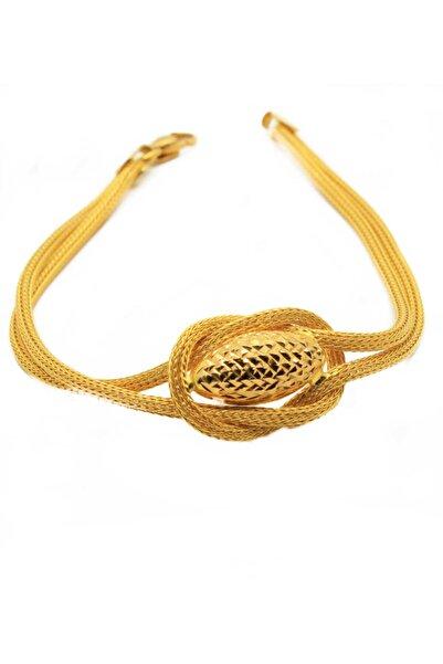 CiGOLD 22 Ayar Altın Taşsız Bileklik 18k2blk0883055554