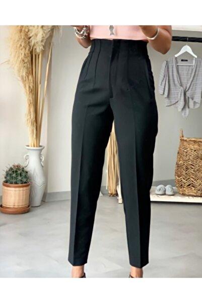 Vitalite Kadın Siyah Yüksek Bel Pensli Pantolon
