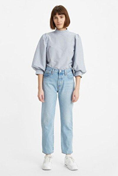 Kadın Mavi Yüksek Bel Pamuk Jeans  36200 501