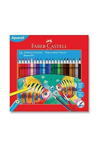 Faber Castell Karton Kutu Kuru Sulu Boya Kalemi 24 Renk