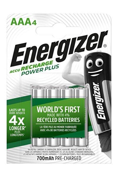 Energizer Power Plus Rechargeable Şarj Edilebilir Aaa Ince Kalem Pil 700 Mah 1.2 V (4 Lü Paket) Ese3a47