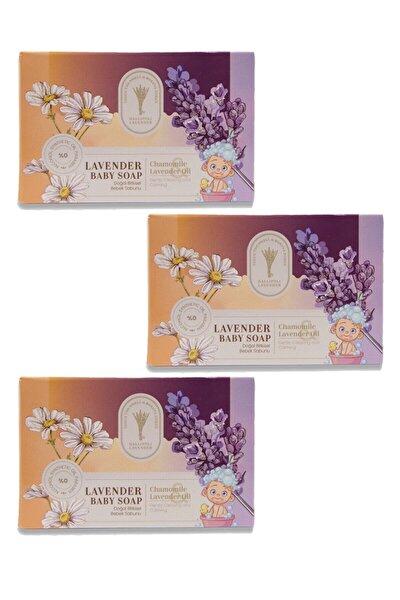 Gallipoli Lavender 3 Adet Bitkisel Bebek Sabunu 100 Gr Lavanta Yağı Uyku Verici Rahatlatıcı Bebek Sabunu