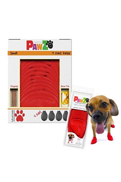 Pawz Su Geçirmez Kırmızı Köpek Galoşu, Köpek Ayakkabısı S-6,35 Cm-4 Adet