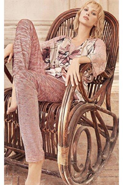 Miss Loren Kadife Pijama Takımı 3 Lü