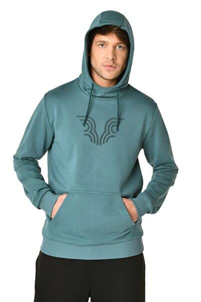 bilcee Yeşil Erkek Kapüşonlu Sweatshirt