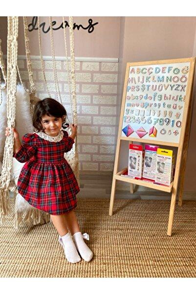 USF Manyetik Özellikli Ahşap Çocuk Yazı Tahtası Ve Eğitici Seti (harfler-rakamlar-tangram)