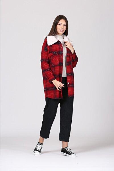 Loreen 20438l Desenlı Pelus Ceket