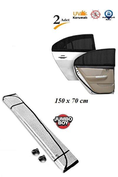 ipekbazaar Araba Ön Cam Güneşliği Oto Metalize Alüminyum Katlanabilir Güneşten Koruyucu Perde Güneşlik 150x70cm