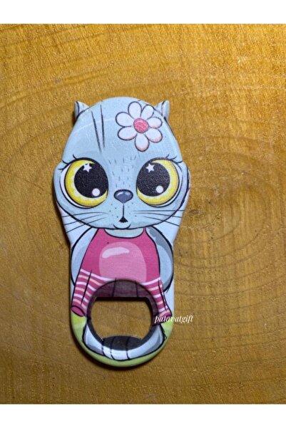 Patavat Tatlış Kedi Buzdolabı Magneti & Kapak Açacağı