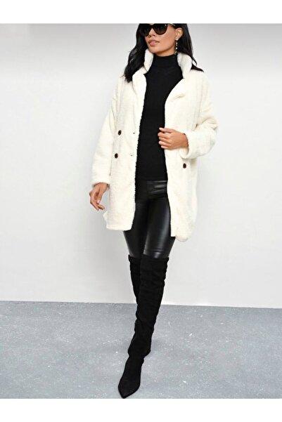 ebrulim takı Beyaz L Beden Polar Ceket