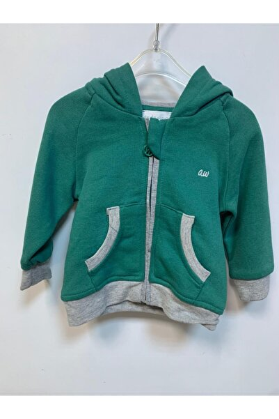 andywawa Penye Ceket Kapşonlu Yeşil
