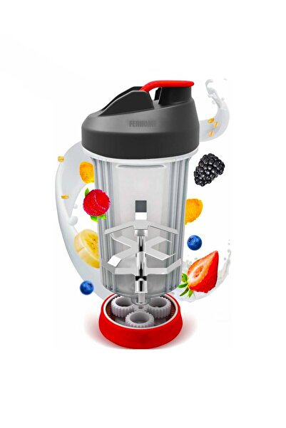 FERHOME Pratik El Blender Karıştırıcı Meyveli Yoğurt Detoks Içecek Matara Shaker Aksesuar