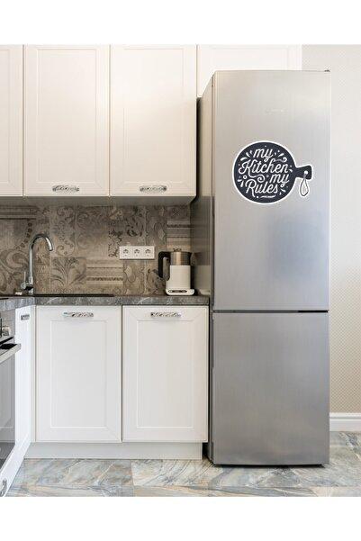 MimOzalit My Kitchen My Rules Yazılı Büyük Boy Buzdolabı Magneti - 52x42cm