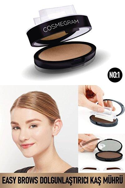 Cosmegram Easy Brows Kaş Mührü- Kaş Dolgunlaştırıcı No:1 Koyu Kahverengi