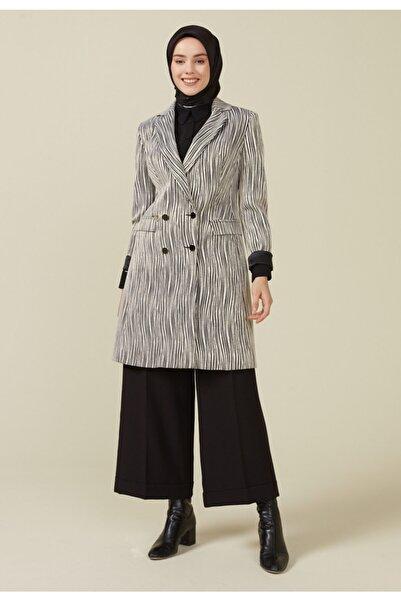 Setrms Siyah - Bej Düğmeli Blazer Ceket 2217003