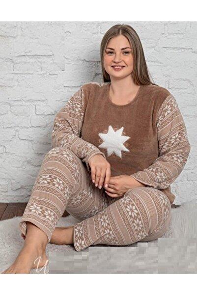 Sude Bayan Büyük Beden Polar Pijama Takımı Yeni Sezon