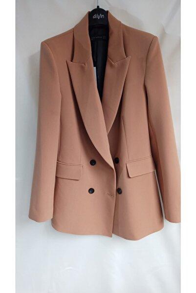 Dilvin Kadın Blazer Ceket Kahverengi