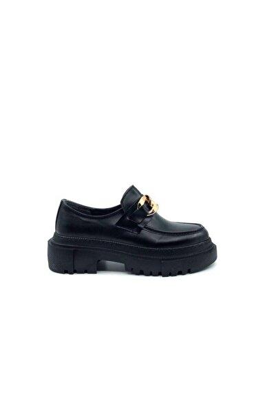Rossetto Shoes Kadın Rugan Zincir Detaylı Termo Taban Loafer Ayakkabı