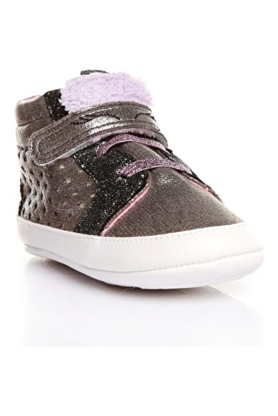 Funny Baby Unıcornlu Siyah Ilk Adım Bebek Yürüyüş Ayakkabısı