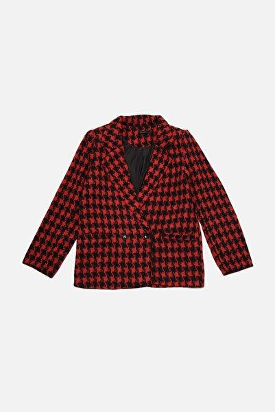TRENDYOLMİLLA Kırmızı Petite  Kazayağı Ceket TWOAW22CE0277