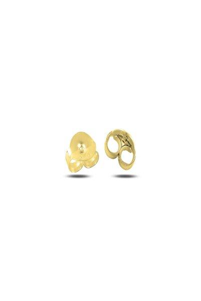 Tevuli Gümüş 925 Ayar Altın Kaplama Klips (Küpe Arkalığı) TT87911