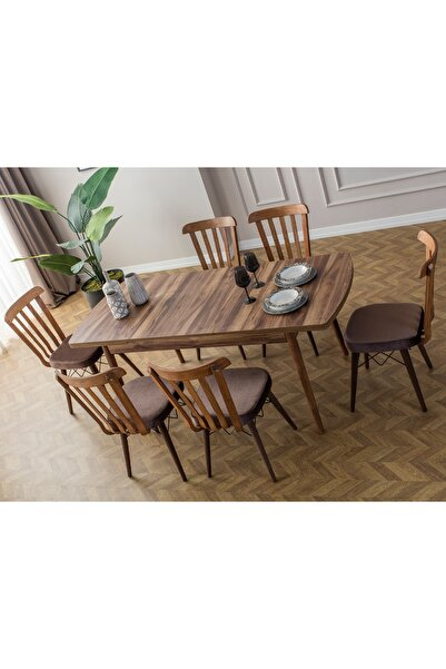 Eymense Fergana 6 Sandalyeli Mutfak Masa Takımı