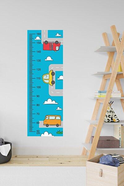 3M Çocuk Odası Dekoratif Boy Cetveli - Araba & Yol & Trafik