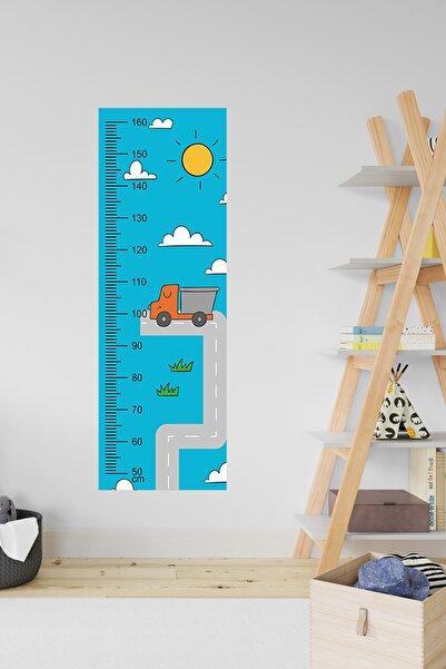 3M Çocuk Odası Dekoratif Boy Cetveli - Araba & Kamyon