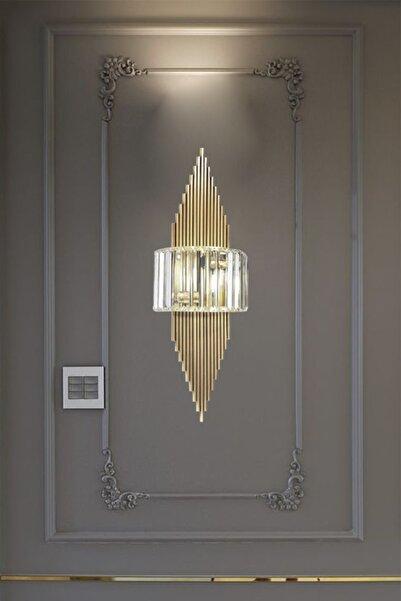 Bamyum Arames Eskitme Rengi Aplik Tekli Duvar Lambası Salon Koridor Restoran Dekoratif Aplikleri