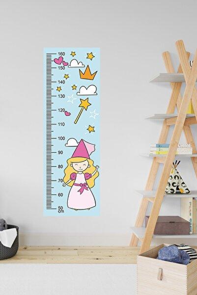 3M Çocuk Odası Dekoratif Boy Cetveli - Pembe & Mavi Prenses