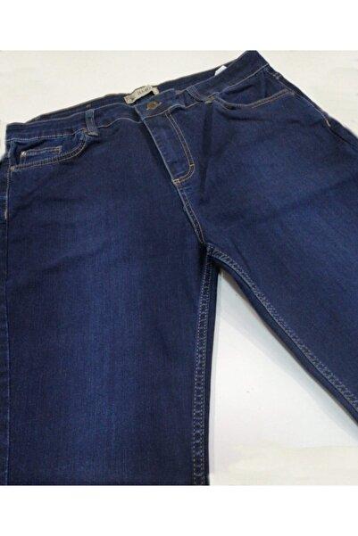 RMG Kadın Lacivert Büyük Beden Likralı Yüksek Bel Pantolon