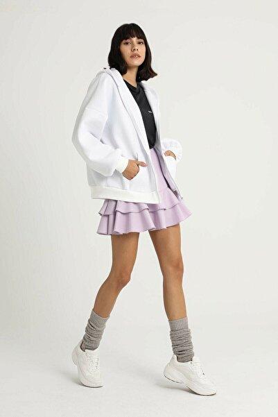 MODA SERYA Kadın Beyaz Oversize Sweatshirt