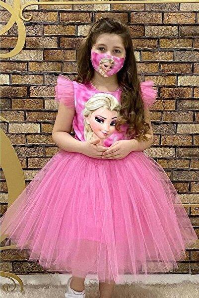 Mnk Kız Maskeli Parti Elbisesi