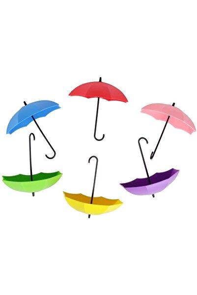 FERHOME Dekoratif Şemsiye Askı 4'lü Set Yapışkanlı Antre Hol Anahtar Takı Aksesuar Askılık
