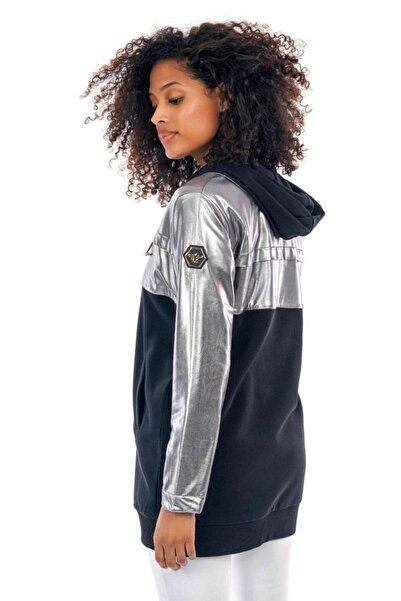 Less Lilas Metalik Renk Kadın Parlak Ceket