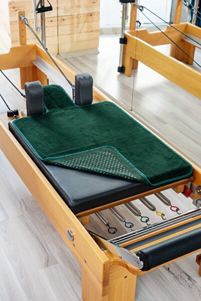 RAINBO Yeşil Pilates Reformer Havlusu, Nonslip Reformer Towel, Kaydırmaz Reformer Havlusu